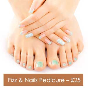 Fizz & Nails Pedicure – £25